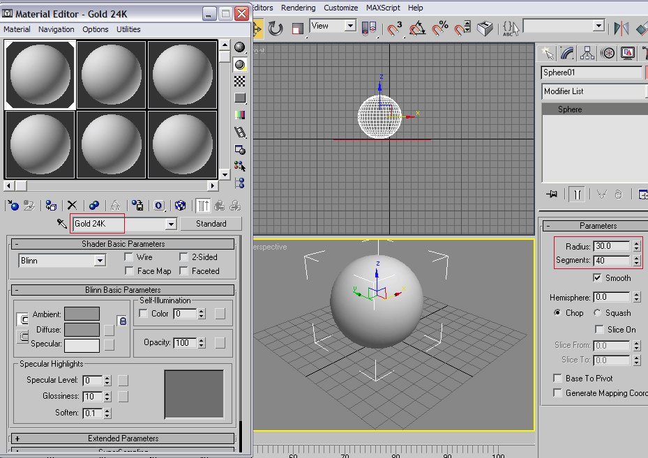 Creating gold, silver, and copper material in 3ds Max